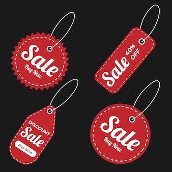 Oferta especial de venta y etiquetas de precio premium