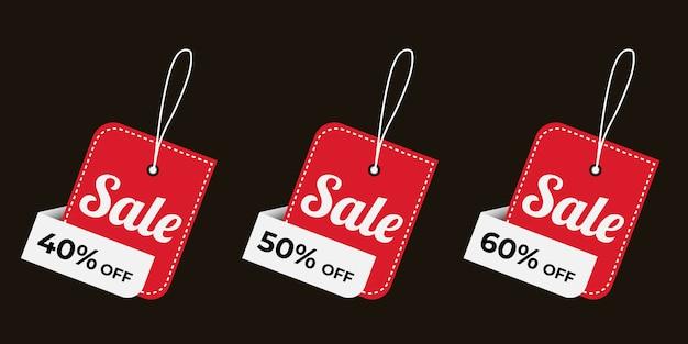 Oferta especial de venta y etiquetas de precio