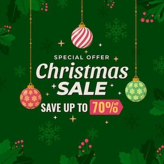 Oferta especial venta de navidad plana
