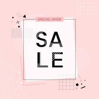 Oferta especial venta promoción vector