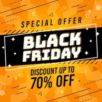 Oferta especial de viernes negro en diseño plano