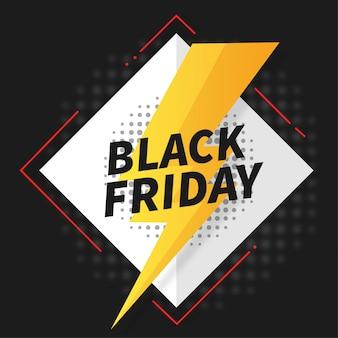Oferta flash banner del viernes negro