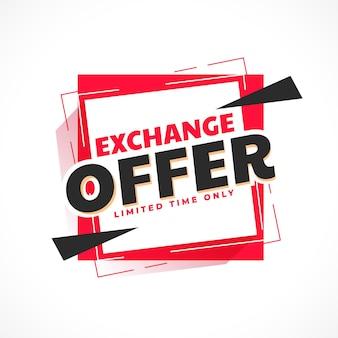 Oferta de intercambio diseño de banner de moda