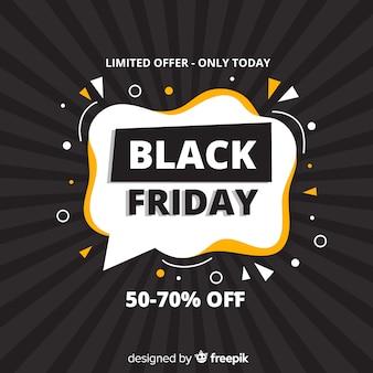 Oferta limitada del viernes negro en diseño plano