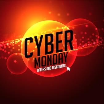 Oferta de lunes cibernético futurista y fondo de descuento