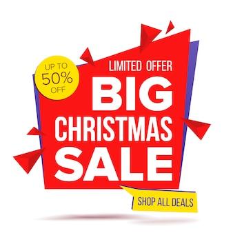 Oferta de navidad oferta especial banner
