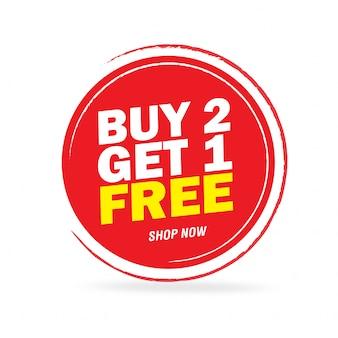 Oferta de oferta especial y diseño de etiquetas de precio