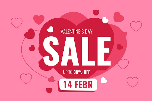 Oferta de oferta romántica de san valentín