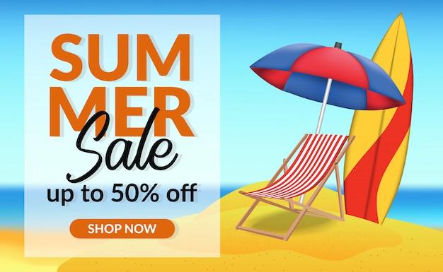 Oferta de vacaciones de verano oferta descuento banner