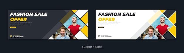 Oferta de venta de estilo de vida de moda línea de tiempo de portada de facebook