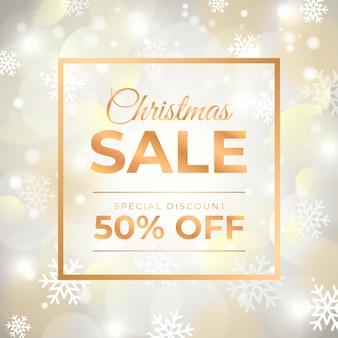 Oferta de venta de navidad borrosa