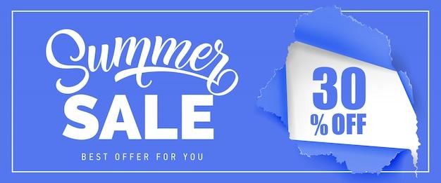 Oferta de verano la mejor oferta para ti treinta por ciento de descuento en letras.