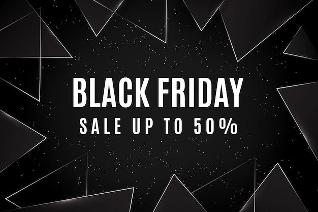 Oferta de viernes negro hasta 50% de temas triangulares