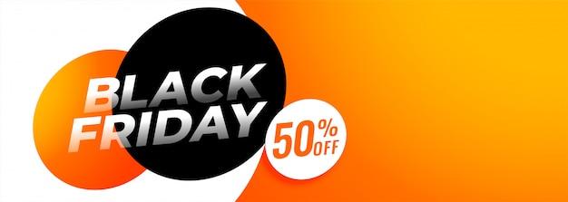 Oferta de viernes negro y banner de ofertas con copyspace