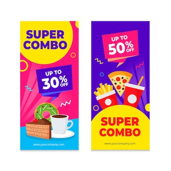 Ofertas combinadas - banners