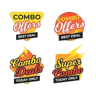 Ofertas combinadas - concepto de etiquetas