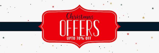 Ofertas navideñas y diseño de banner de venta.