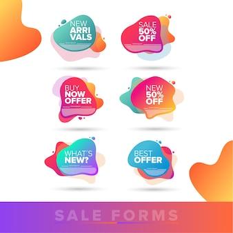 Ofertas de venta de formas orgánicas de colores.