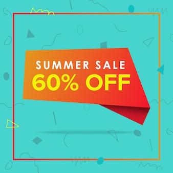 Ofertas de venta de verano diseño de banner