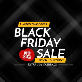 Ofertas de venta de viernes negro y fondo de descuento