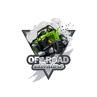 Off-road atv buggy logotipo