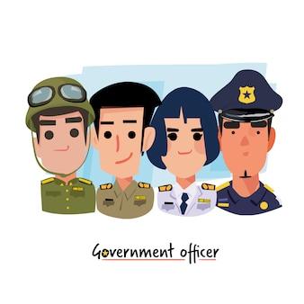 Oficial de gobierno - ilustración vectorial