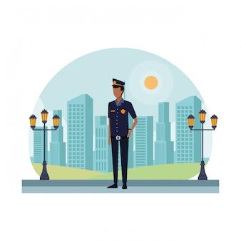 Oficial de policía trabajador avatar