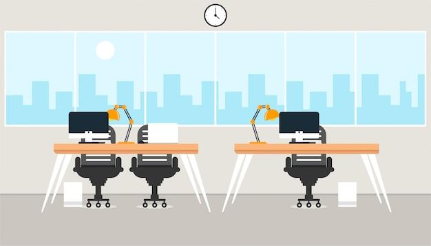 Oficina de aprendizaje y enseñanza para trabajar usando una ilustración de vector de programa de diseño