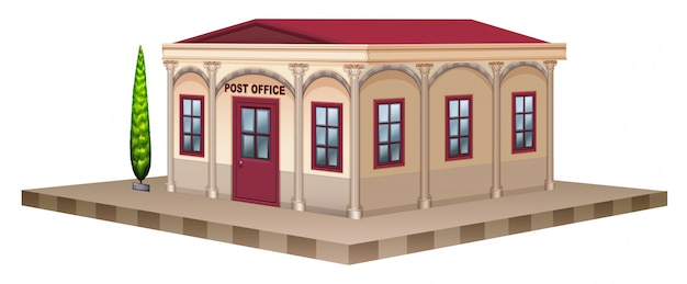 Oficina de correos en diseño 3d