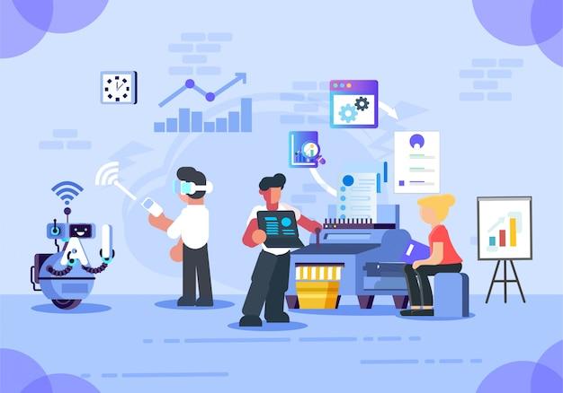 Oficina inteligente de negocios vector