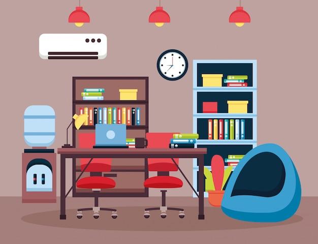 Oficina interior lugar de trabajo