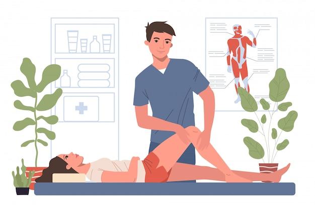 Oficina de terapeuta de masaje