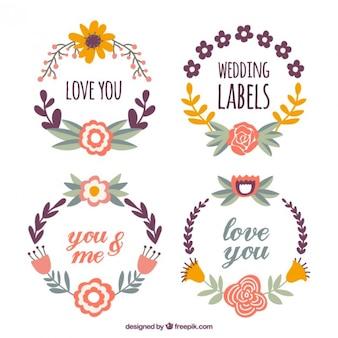 Ofrenda floral lindo con mensajes preciosos