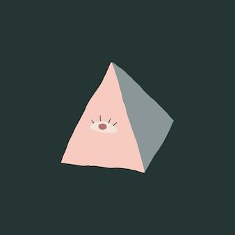Ojo de la providencia logo magia brujería ilustración dibujado a mano