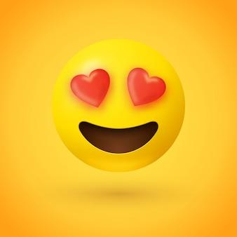 Ojos cariñosos emoji