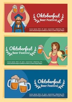 Oktoberfest beer festival plantilla