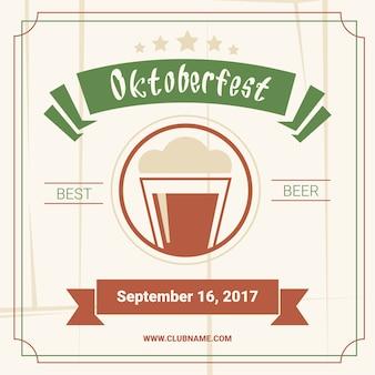 Oktoberfest beer festival poster decoración