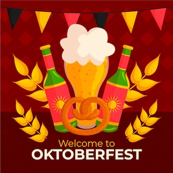 Oktoberfest dibujado a mano