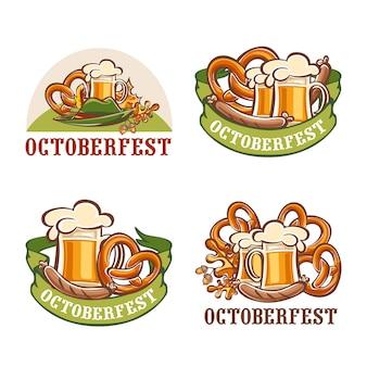 Oktoberfest fiesta de la cerveza conjunto alemán
