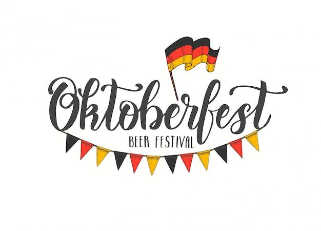 Oktoberfest iconos cartel carta
