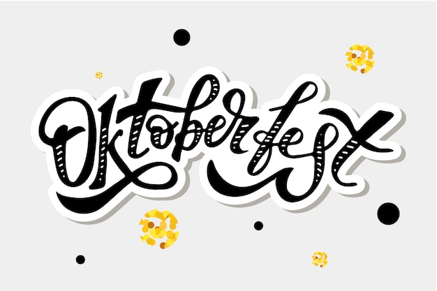 Oktoberfest letras caligrafía
