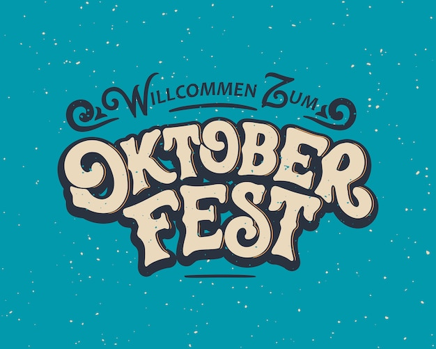 Oktoberfest letras escritas a mano.