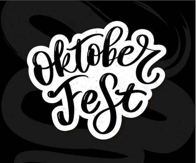 Oktoberfest letras escritas a mano
