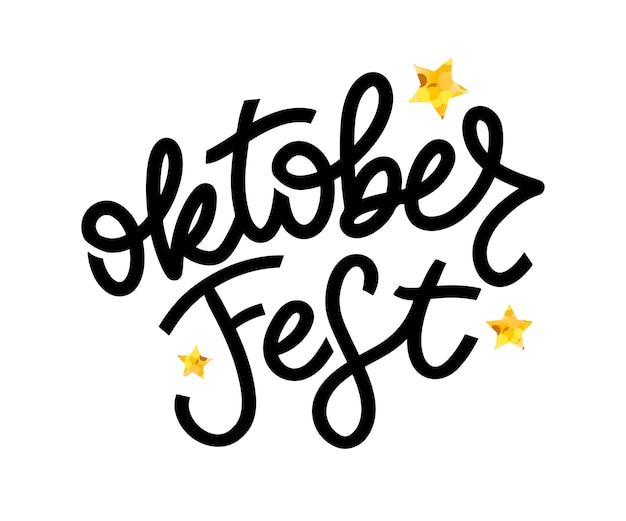 Oktoberfest letras de escritura a mano.