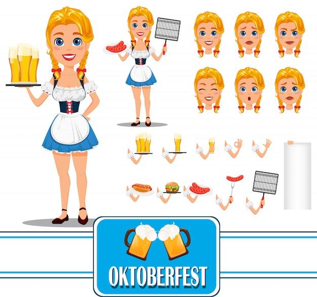 Oktoberfest. personaje de chica pelirroja sexy
