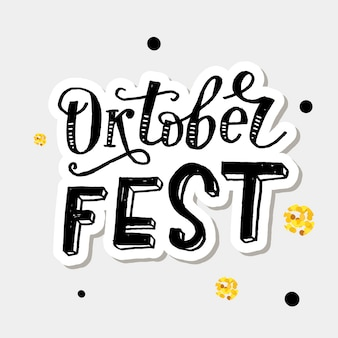 Oktoberfest sticker letras negras