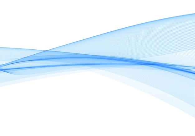 Ola azul creativa que fluye moderna