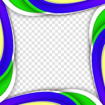 Ola colorido abstracto transparente