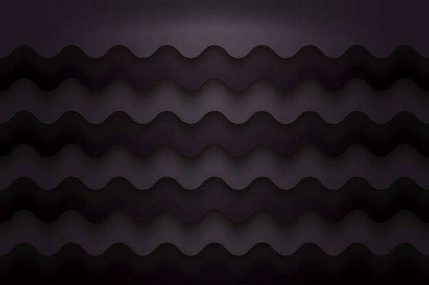 Ola de fondo negro abstracto