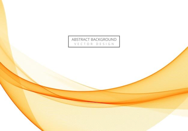 Ola naranja que fluye abstracto